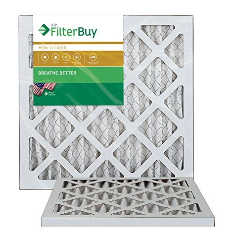 AFB Gold MERV 11 14x18x1 Pleated AC Furnace Air Filter. Pack of 2 Filters. 100% produced in the USA. (Hvac Filter 14x18x1 compare prices)