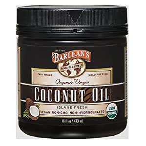 Barlean's Organic Oils Barlean's Organic Virgin Coconut Oil, 16-Ounce Jar