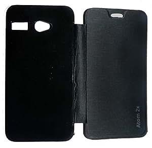 Aara Smart Flip Cover Carry Case for Lava Iris Atom 2X - Black