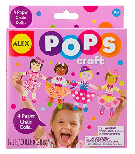 ALEX Toys POPS Craft 4 Paper Chain Dolls - 1