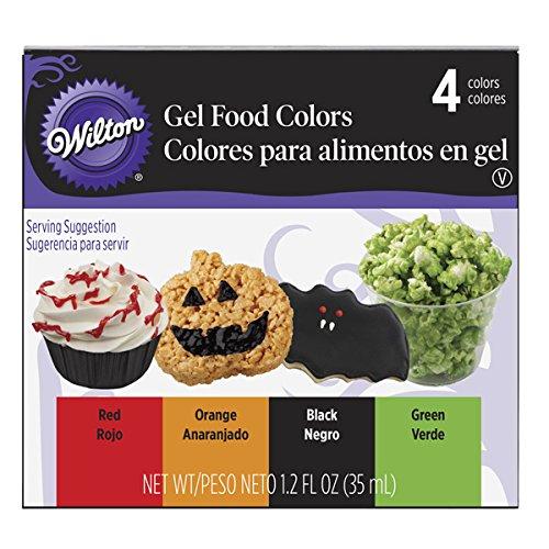 Wilton 601-1001 Halloween Gel Colors, 4-Pack
