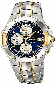 Seiko Men's SNA550 Coutura Chronograph Blue Dial Watch