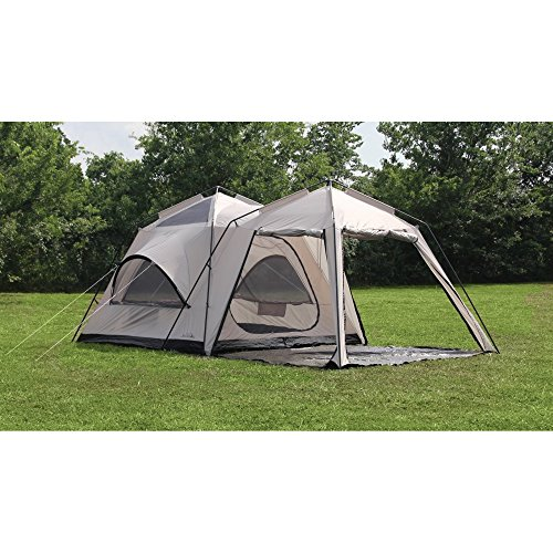 Texsport twin peaks two room cabin dome tent discount for Small 3 room tent
