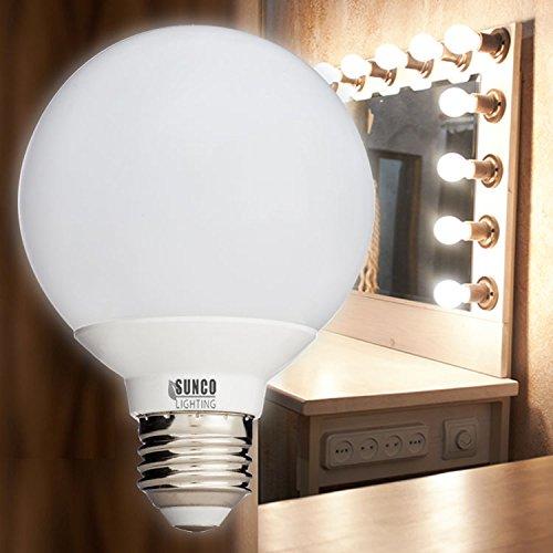 Sunco Lighting 10 Pack – UL Energy Star – 6W Dimmable G25 LED Bulb, (= 40W) Vanity Light Bulb, Soft White 4000K, Medium E26, Omnidirectional Globe Bulb for Bath, Pendant, Dressing Room Decorative