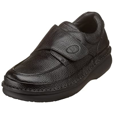 Propet Men's M5015 Scandia Strap Slip-On,Black Grain,7 M (US Men's 7 D)