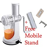 J GO Ganesh Fruits & Vegetable Juicer With Steel Handle + (FREE MOBILE STAND) - B01MU396S4