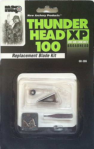 New Archery Thunderhead Xp 100 Replacement Blades (Pack of 9) (Nap Killzone Replacement Blades compare prices)