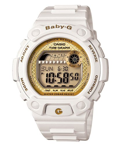 Casio Women's BLX100-7B Baby-G Shock Resistant Glide White Multi-Function Watch Reviews