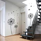 Dandelion Flowers Tree Butterflies Removable Vinyl Wall Stickers Mural Home Decal Kids Room Decor