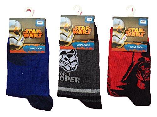Calze Star Wars originali gamba corta varie taglie (31-34 taglia)