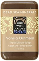 One With Nature Vanilla Oatmeal Dead Sea Mineral Soap, 7 Oz. Bar (Pack of 36)