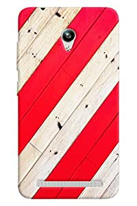 Blue Throat Red And White Stripes Hard Plastic Printed Back Cover/Case For Asus Zenfone Go