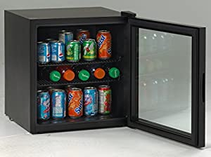 Avanti BCA184BG 1.8 cu ft Beverage Cooler - Black w/ Glass Door