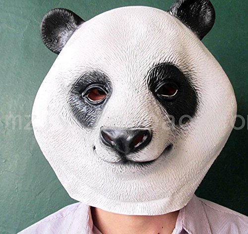 Latex Full Head Overhead Animal Cute Panda Mask Cosplay Masquerade Fancy Dress up Carnival