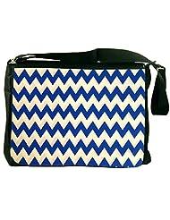 Snoogg Navy Blue Waves 2501 Laptop Messenger Bag