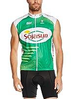 MOA FOR PROFI TEAMS Chaleco para Ciclismo E13 Sojasun (Verde)