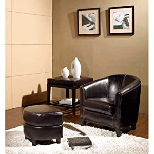 Armchair and Ottoman Set