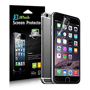iPhone 6 Screen Protector, Updated Version with Cutout for Front Camera, JETech® 3-Pack Screen Protector Film HD Clear Retail Packaging for Apple iPhone 6 4.7 Inch - 0801