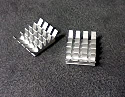 Aluminum Heatsink set for Raspberry Pi - Set of 2 Heat Sinks