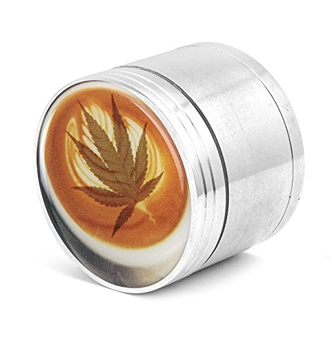 Four Piece Spice Medicinal Herb Tobacco Pollen Grinder Crusher - Orange Kush (Grinders For Weed Mushroom compare prices)