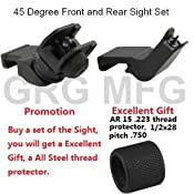 GDT AR15 AR 15 Front and Rear 45 Degree Rapid Transition BUIS Backup Iron Sight:Amazon:Sports & Outdoors