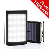 11000mAh Solar Charger& 20LED Campin...