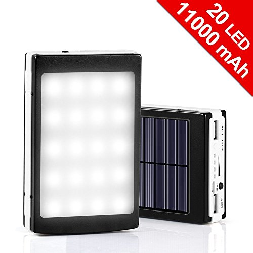 11000mAh-Solar-Charger-20LED-Camping-Light-2-in-1-Dual-USB-External-Solar-Charger-Backup-Battery-for-Headlamp-iPhone-iPad-HTC-Samsung-BlackberryGPSTabletCameraApple-Adapters-not-Includeblack