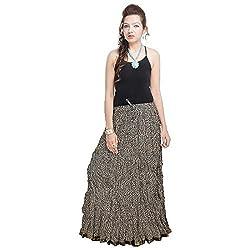 Prateek Retail Rajasthani Designer Black Cotton Skirt