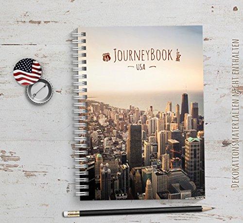 Reisetagebuch usa amerika zum selberschreiben oder als - Auslandsjahr abschiedsgeschenk ...