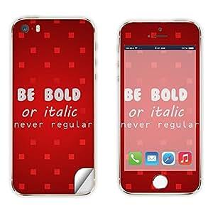 Skintice Designer Vinyl Skin Sticker for Apple iPhone 5/5S, Design - be bold