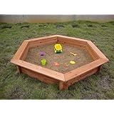"51"" Hexagonal Sand Box with Rain Cover & Lining"