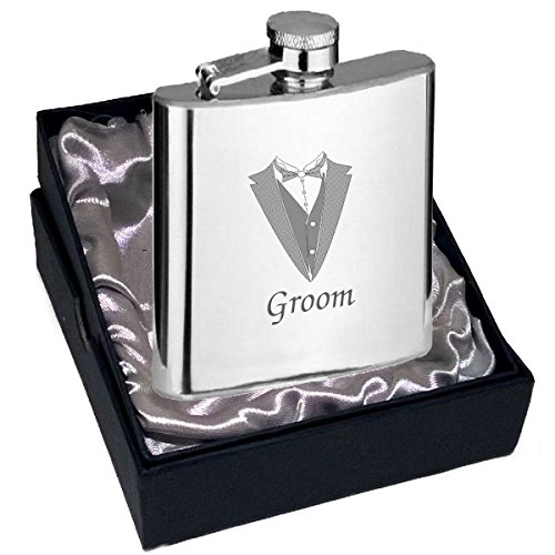 groom-hip-flask-hip-flask-6oz-size-with-tux-bow-tie-wedding-engraving-design