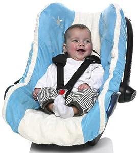Wallaboo WCO.0308.6 - Funda de verano para silla de coche grupo 0, microfibra de ante y 100% tela de toalla absorbente