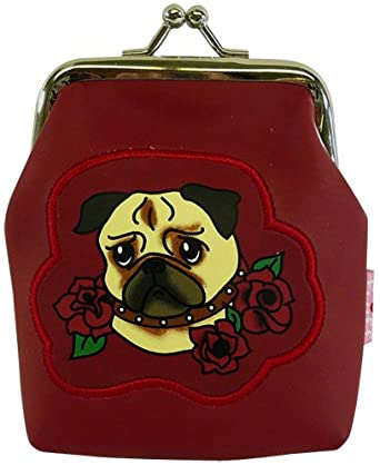 Amazon.com: Fluff Pug Dog Tattoo Kisslock Coin Purse: Clothing