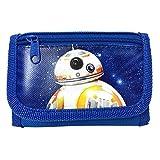 "New Disney Star Wars ""The Force Awaken"" New Robot Bb 8 Tri Fold Wallet Blue"