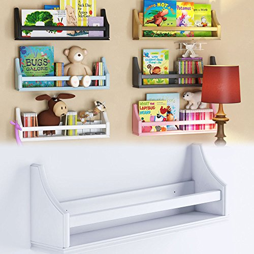 1 White Molding Design Children's Wall Shelf Birch Wood 20