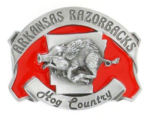 Arkansas Razorbacks Pewter Belt Buckle - NCAA College Athletics Fan Shop Sports Team Merchandise