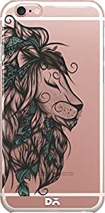 DailyObjects Poetic Lion Turquoise Clear Case For iPhone 6S Plus