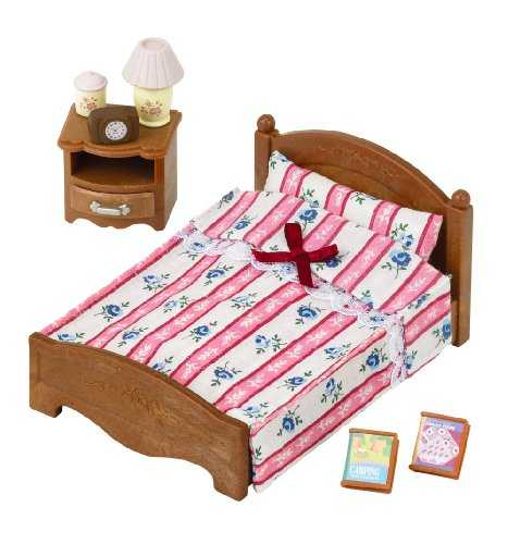 1 X Sylvanian Families bedroom semi-double bed over -512 - 1
