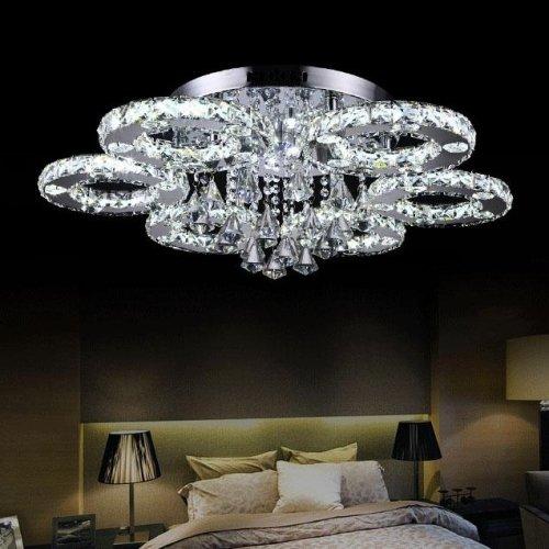 Ideal LightInTheBox Modern Led Flush Mount Light Transparent Crystal Stainless Steel VHome Ceiling Light Fixture Flush Mount Pendant Light Chandeliers