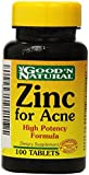 Zinc for Acne - 100 tabs,(Good'n Natural)