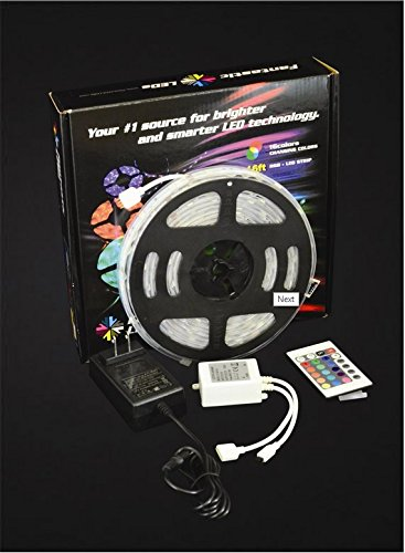 Waterproof 5050 5M 16Ft 150 Led Rgb Strip Lights Lamp With 24 Key Ir Remote Controller