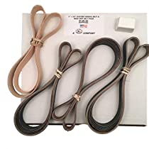 1x42 High Grit Assorted 15 Belt Pack of 600, 800, 1000 + Leather Strop & Compound Made in USA