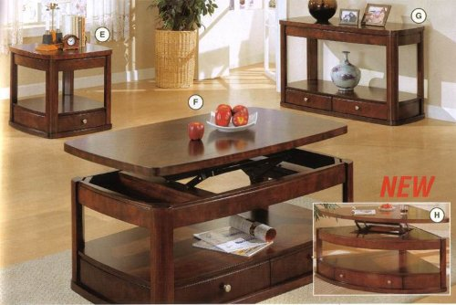 Image of Coaster Evans Contemporary End Table with Drawer and Shelf (B004LNZDW2)