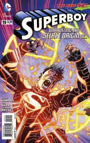 [SUPERBOY #19 High Grade New 52 Origin of Jonathan Kent Superman Supergirl Comics] (Superboy Costume Cosplay)