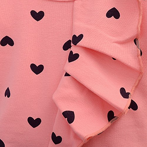 CM-CG Baby Girls' Heart Dot Bowknot Blouse Shirts & Pants Trousers 2 Pcs 12-18M