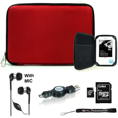 Red Nylon Hard Durable Premium Cover Carrying Case With Interior Mesh Pocket + Indlues A 4-Inch Determination Hand Strap + Includes A Crystal Clear Hd Noise Filter Handsfree With Mic And Mute Button + Includes A 4Gb Micro Sd Card With Sd Adaptor + Include front-208967