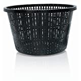 Hydrofarm Round Basket Planters, Black, Set of 24