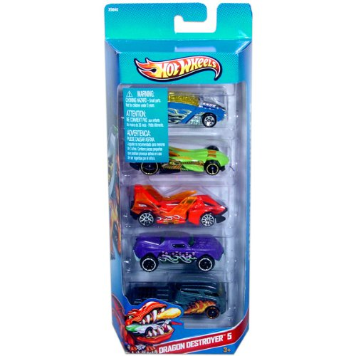 Hot Wheels Dragon Destroyer 5-5 Pack (X9846) - 1