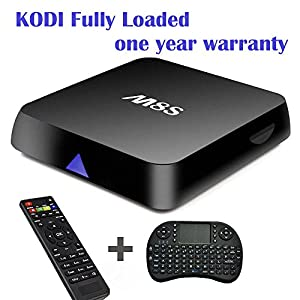 Vcan M8S Amlogic S812 Quad Core Pre-installed Fully Add-ons KODI TV Box 4K Full HD 1080P Streaming Media Player Dual Band Wifi 2G RAM 8G ROM with I8 Wireless Keyboard